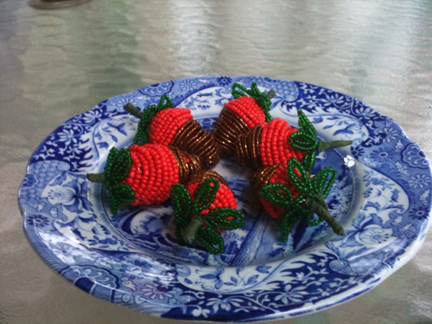 French Beaded Chocolate Covered Strawberries